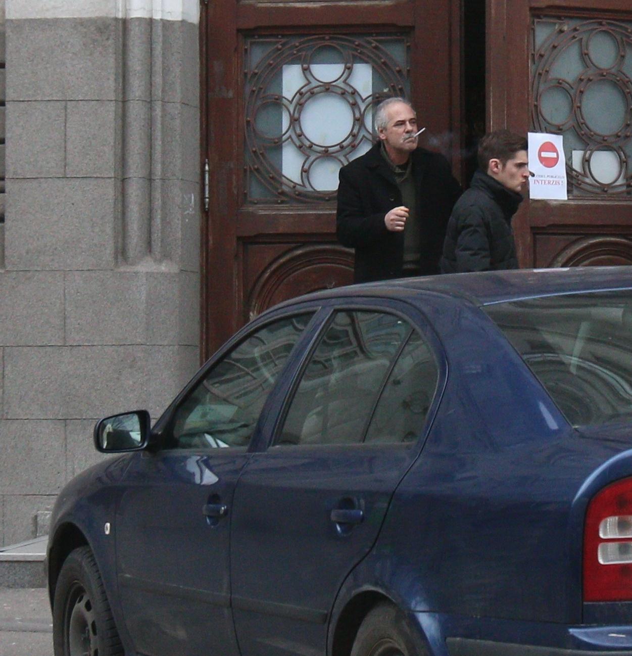 Andrei Andronie a mers la proces impreuna cu tatal sau