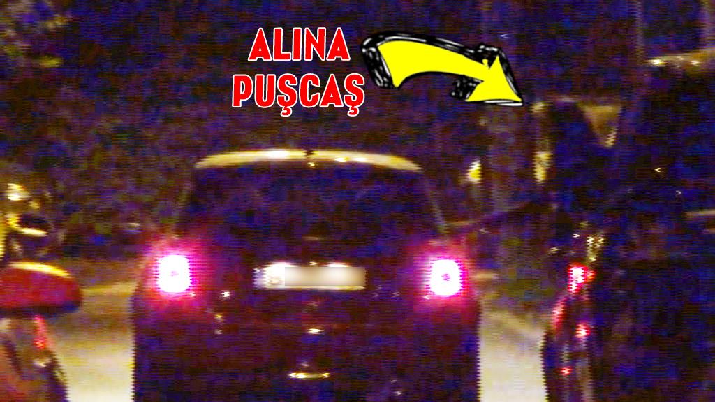 Alina a fost ultima care a coborat din masina, dupa care amica ei si-a vazut de drum