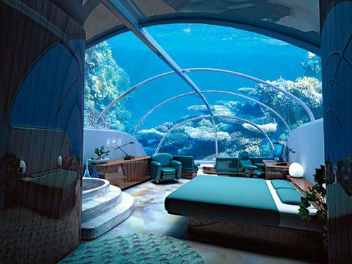 Hotel Poseidon a fost construit in Fiji, la o adancime de 12 metri