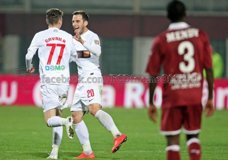 Bogdan Gavrila a intrat pe teren pe finalul partidei dintre Rapid si Dinamo si a purtat tricoul cu numarul 77