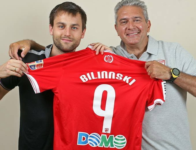 Kamil Bilinski s-a fotografiat cu tricoul in care are alt nume si a postat poza pe facebook