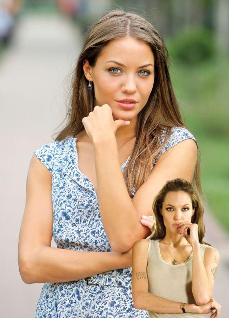 Gabriela era cea mai fidela sosie a Angelinei Jolie