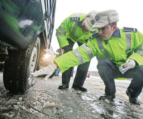 Soferii fara anvelope de iarna pe masini nu a fost iertati nici in ultima zi a anului