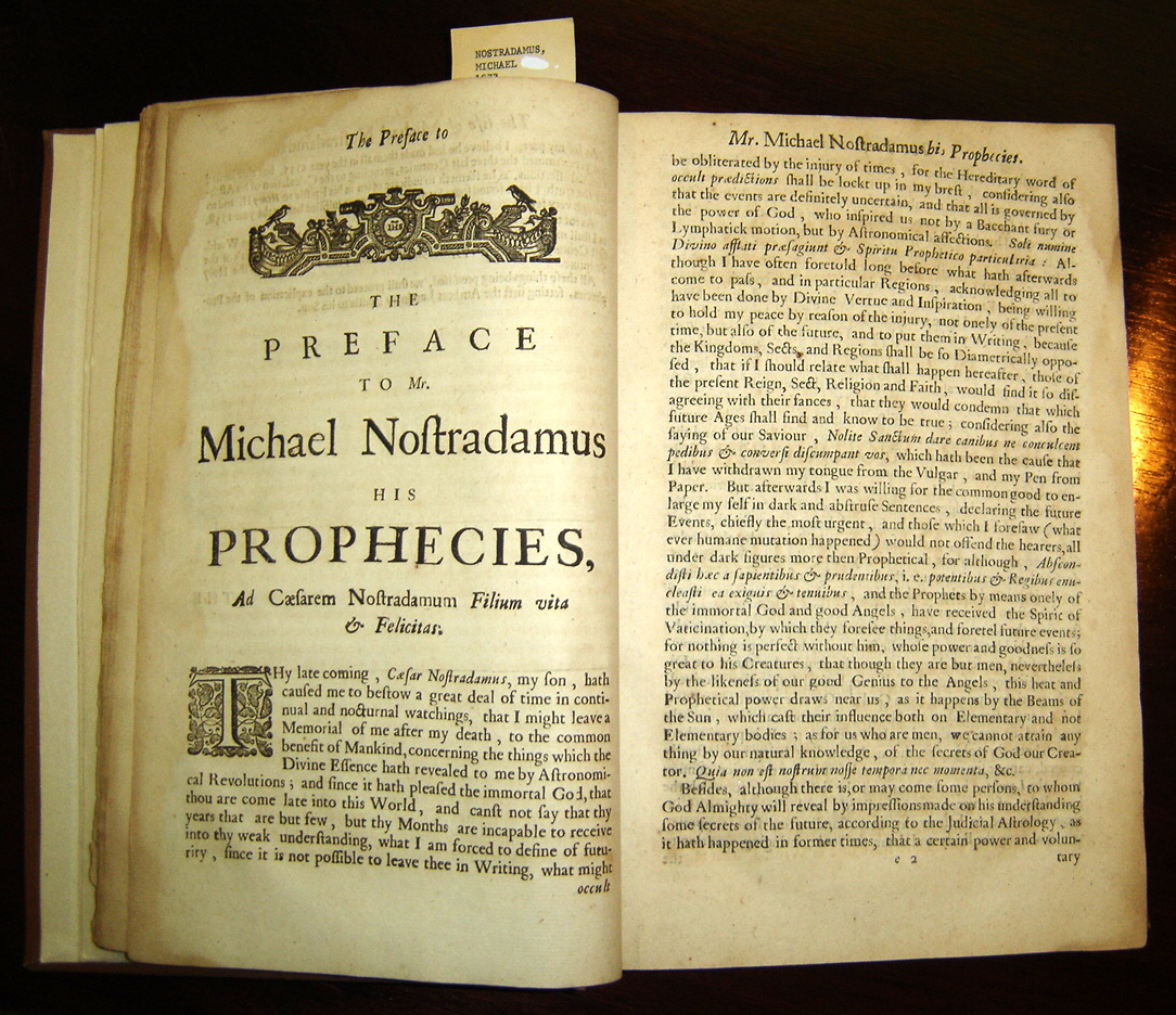 Acestea este viitorul, in viziunea lui Nostradamus