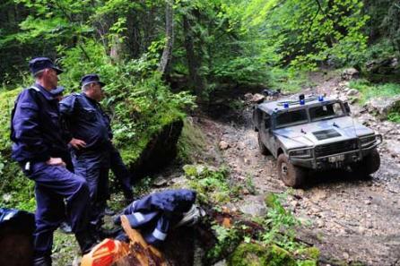Jandarmeria montana a securizat perimetrul dupa accident