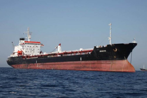 Nava a fost bombardata de aviata libiana