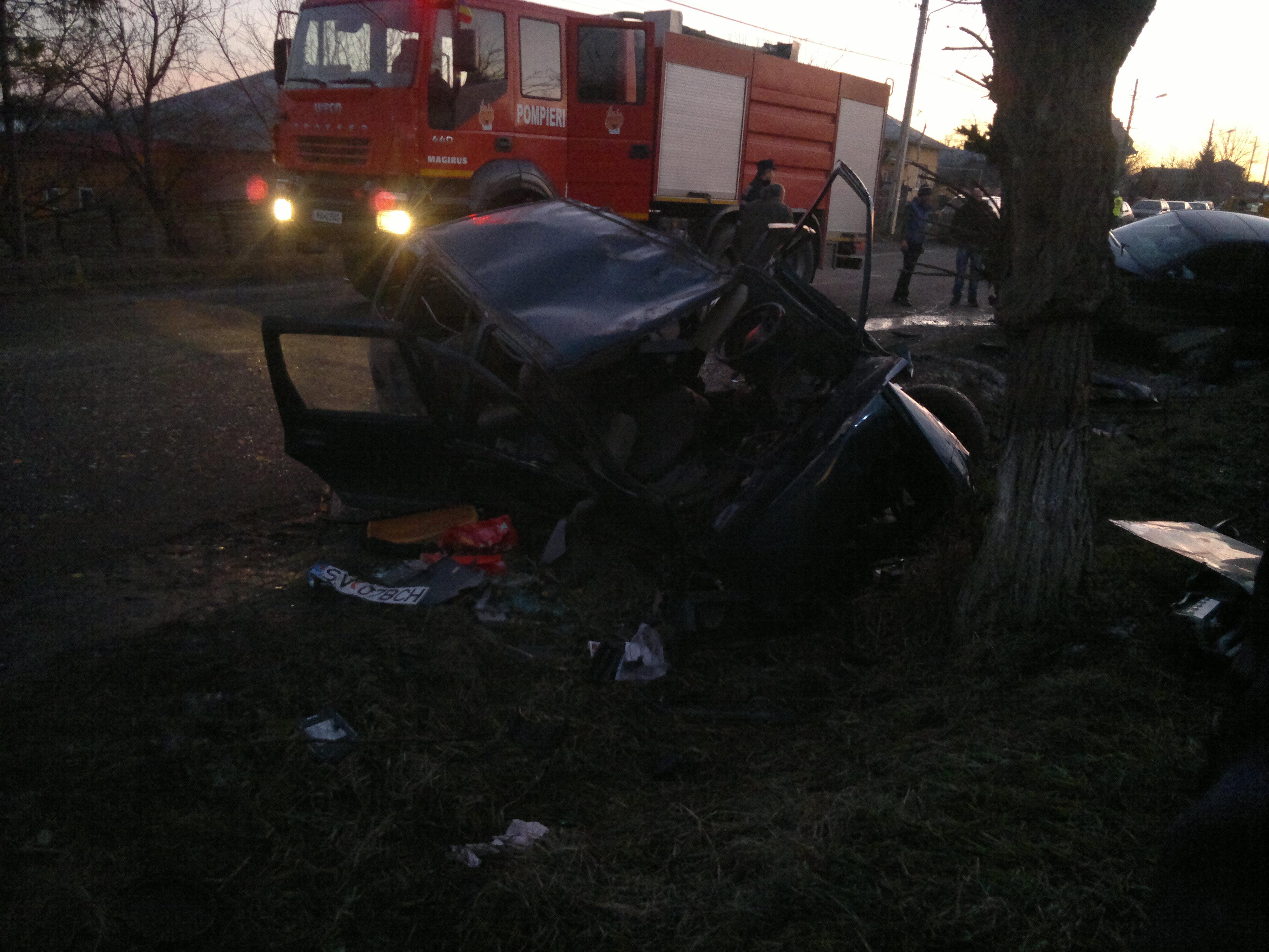 O persoana a fost transportata in stare grava la spital in urma accidentului