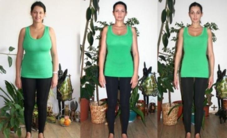Nicoleta a slabit 40 de kilograme in patru luni