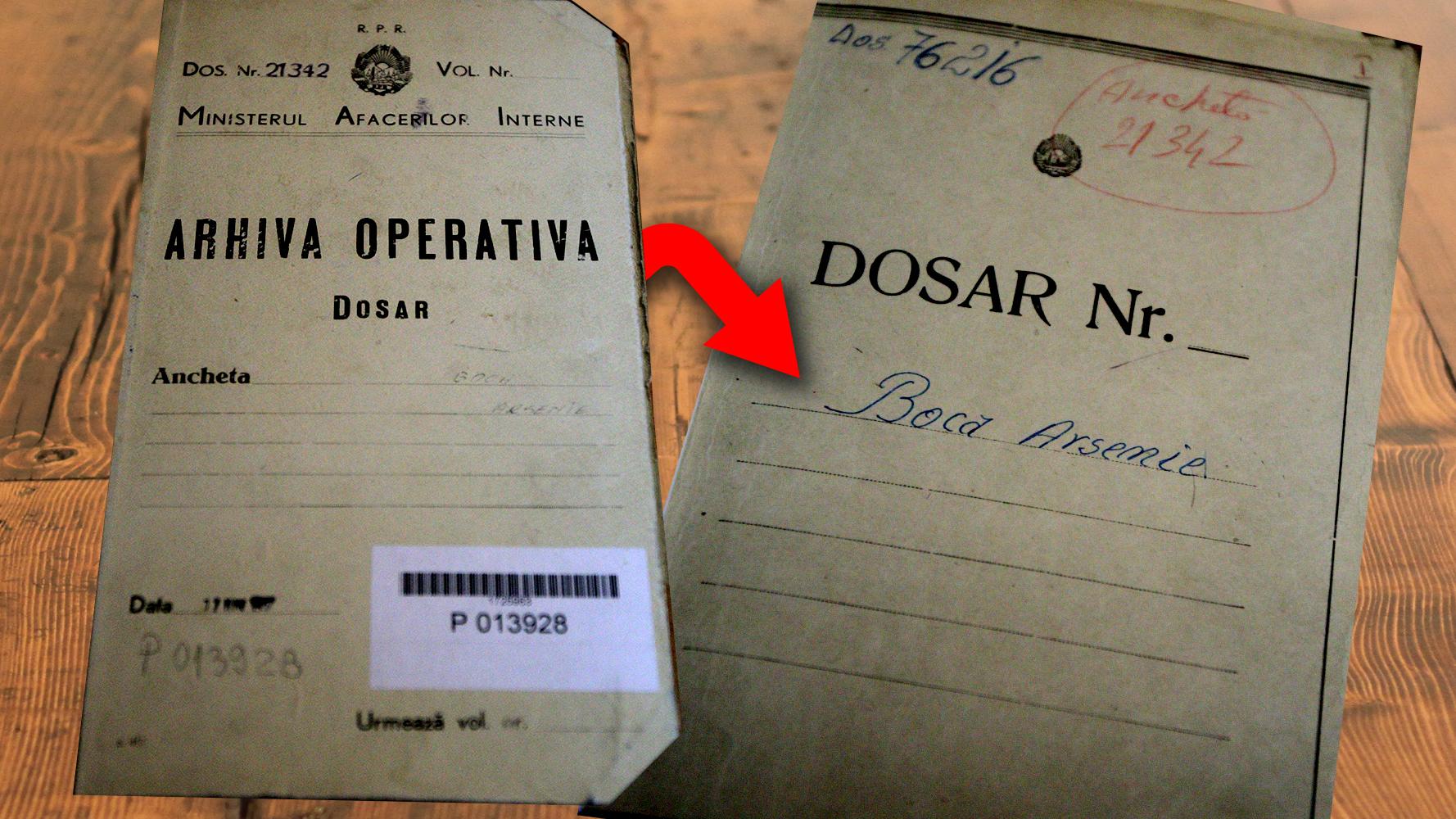 Consiliul National pentru Studierea Arhivelor Securitatii (CNSAS) are in custodie, la acest moment, sase dosare de urmarire deschise de-a lungul timpului pe numele monahului