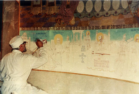 Intre anii 1968 si 1984, parintele a realizat pictura bisericii din localitatea Draganescu de langa Bucuresti