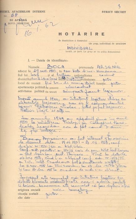 Securitatea il fila zi si noapte pe Sfantul Ardealului, fapt care rezulta din documentele aflate azi in arhiva CNSAS