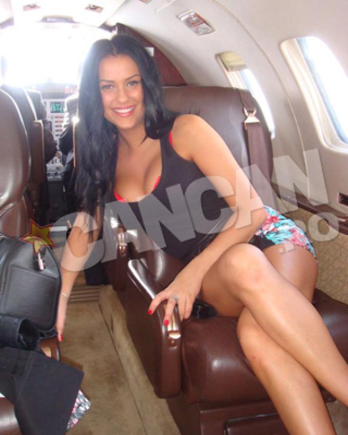 Daniela Crudu a mers la Brasov si cu elicopterul lui Ioan Neculaie