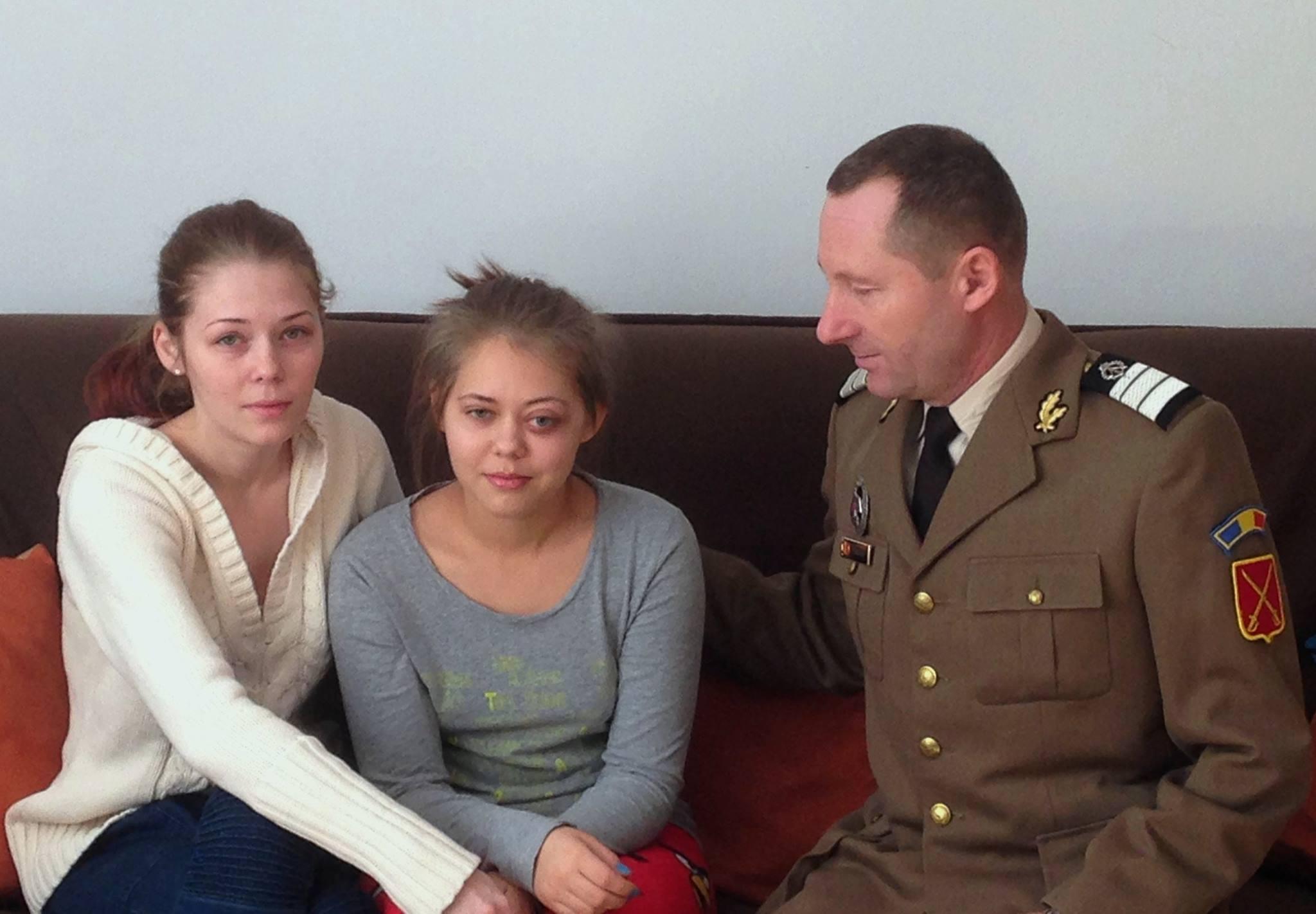 Plutonierul major Ionel Parfene ar face orice ca sa isi salveze fiica mai mica