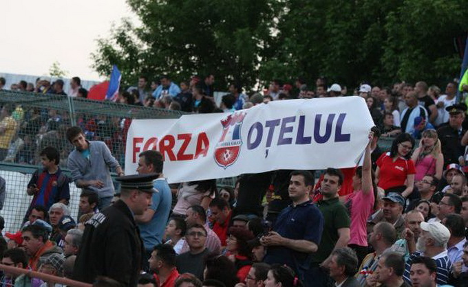 Fanii Otelului sunt unii dintre cei mai fanatici suporteri din Liga 1