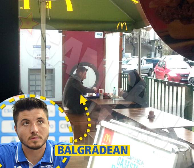 Cristi Balgradean si-a scos iubita la fast-food
