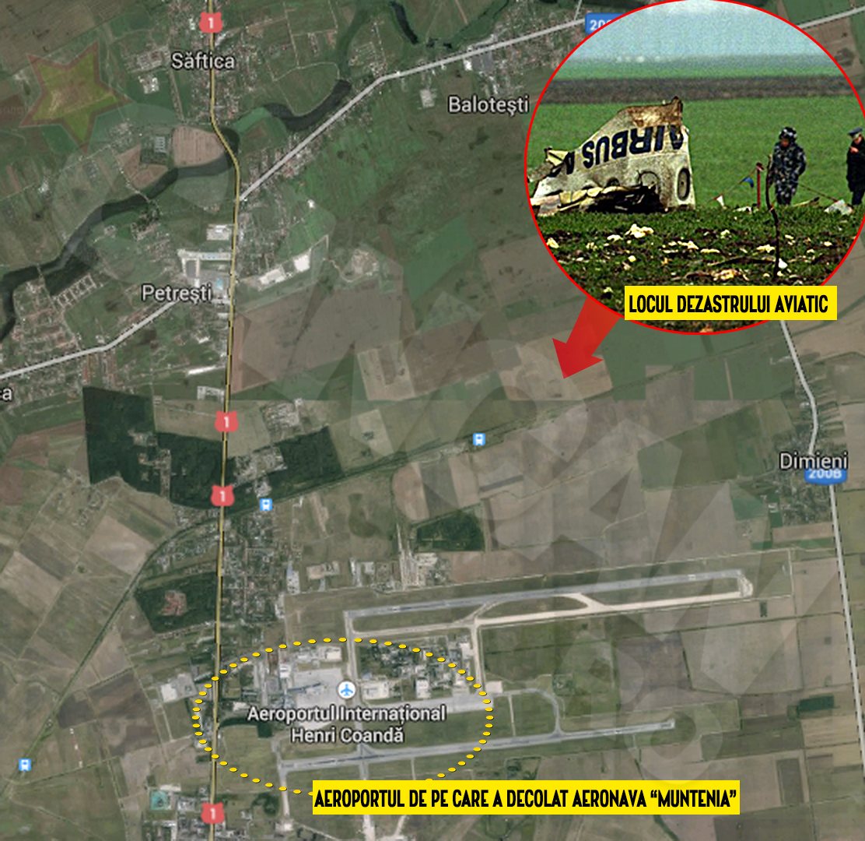 Aeronava TAROM s-a prabusit in apropierea garii Balotesti, la doar trei minute dupa ce decolase de pe Aeroportul Otopeni