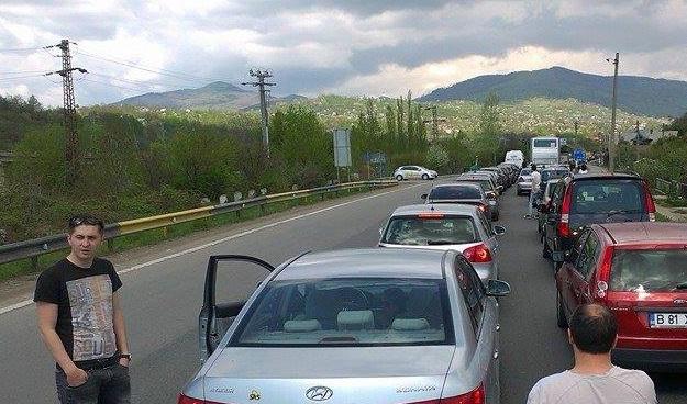 Asa arata drumul spre Valea Prahovei pe 1 Mai