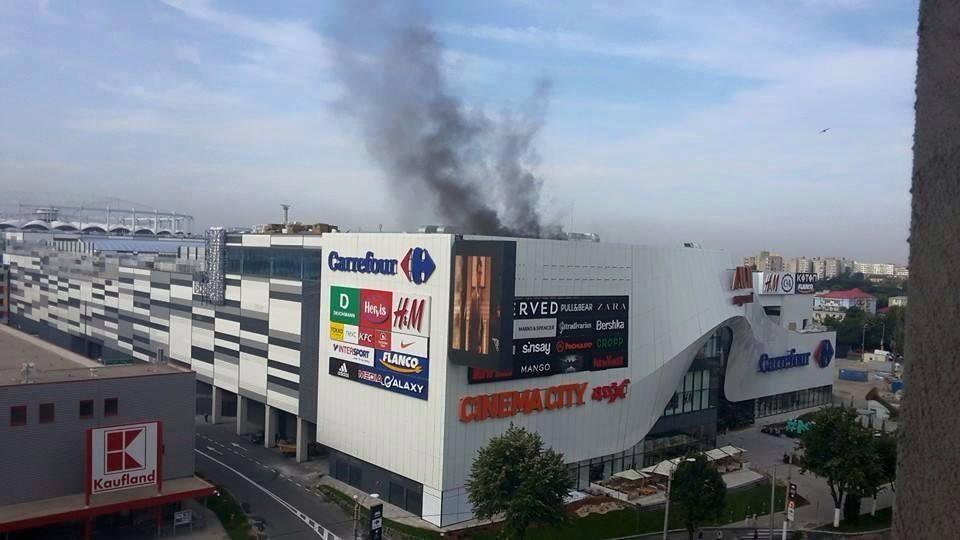 Incendiu mall