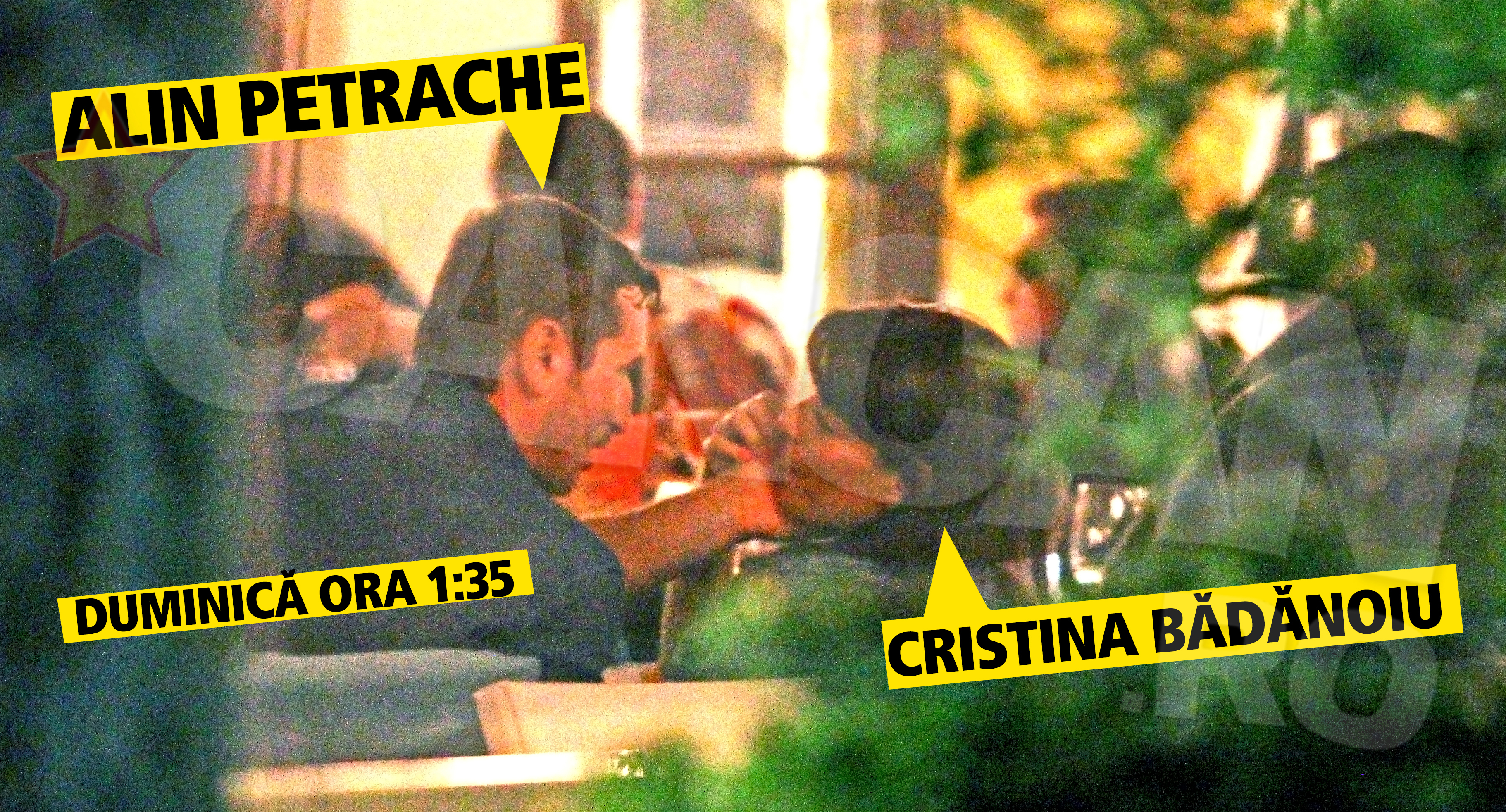 Seful COSR si amanta lui nu si-au ascuns sentimentele nici pe teresa restaurantului de fite unde au luat cina