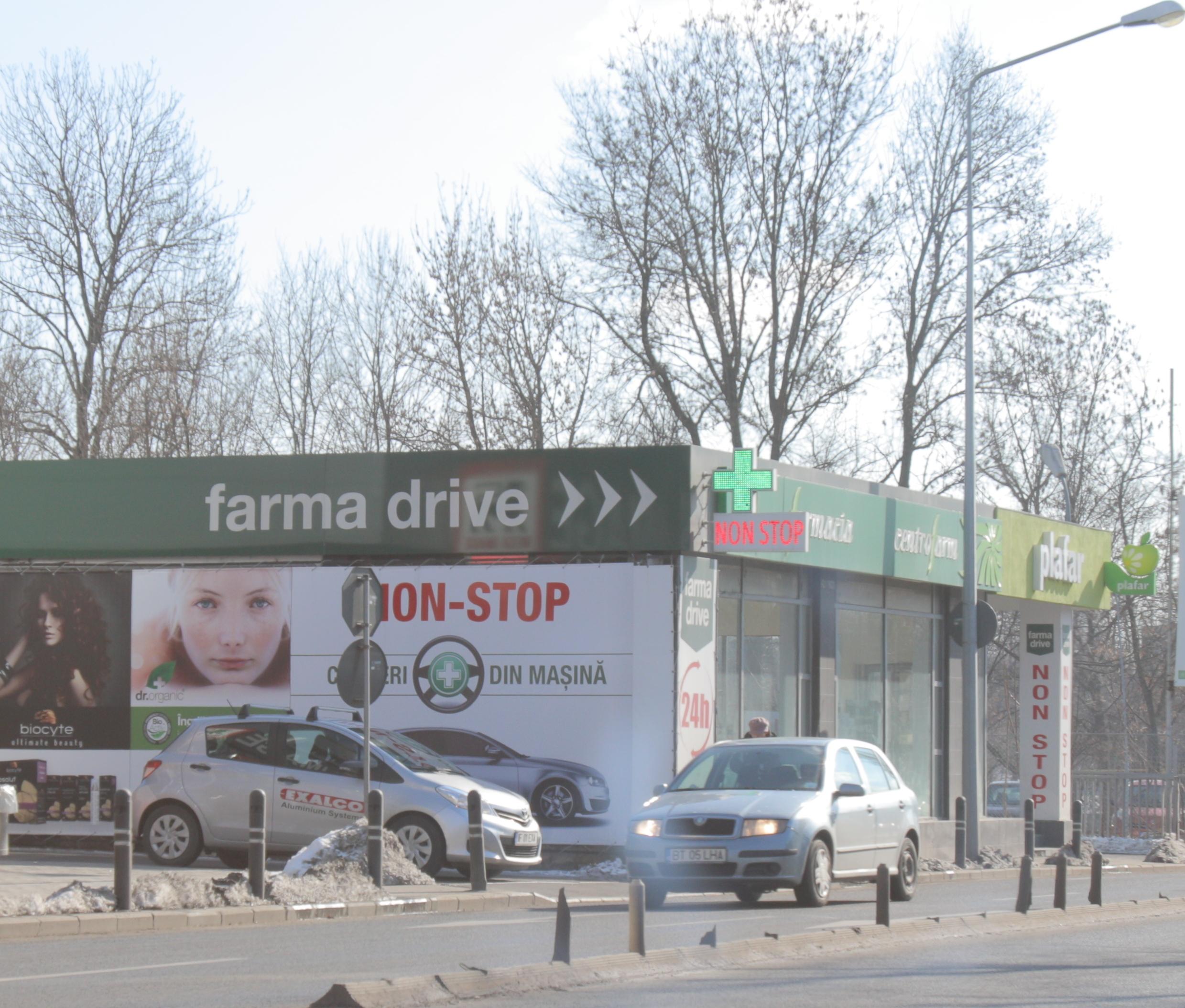Farmacia cu drive-in este situata in zona Nordului din Capitala, la doi pasi de Parcul Herastrau