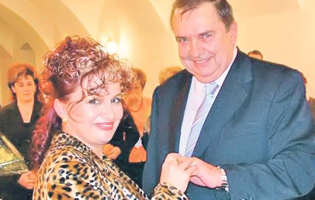 Dan Marin impreuna cu actuala sotie, Renata Marin.