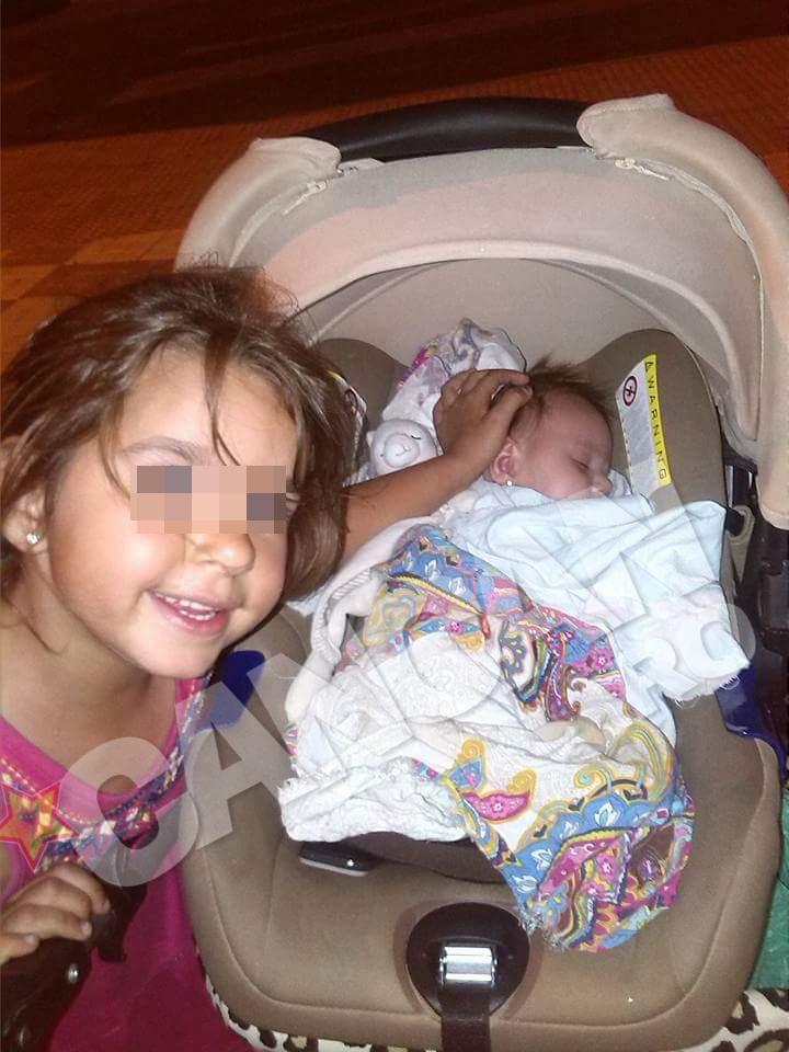 Fetita cea mare a Nikitei si sora ei