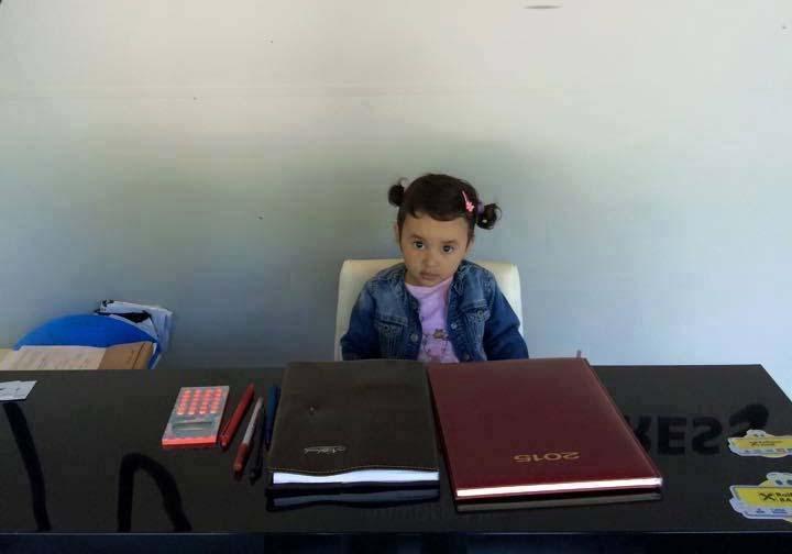 Amalia, fiica cea mare a fotbalistului
