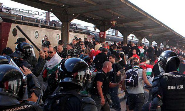 In 2013, fanii unguri au facut scandal la Bucuresti