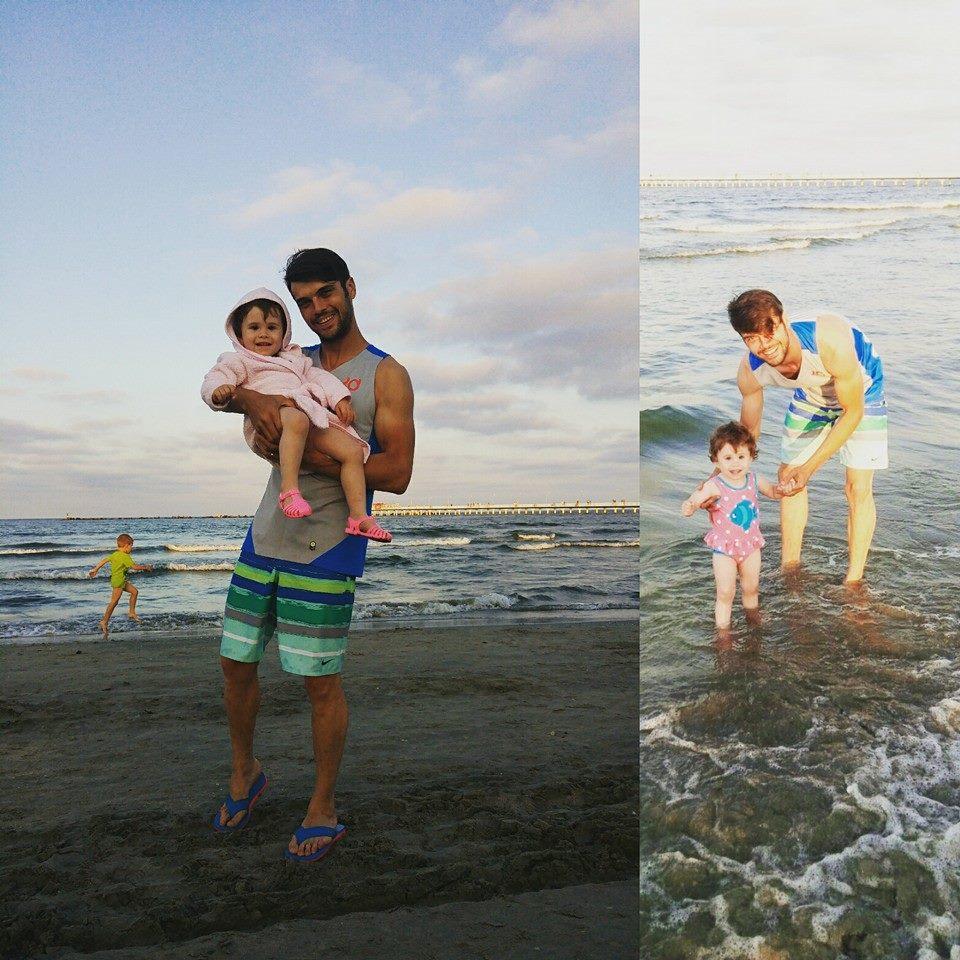 Sotul Oanei Roman si fiica lor