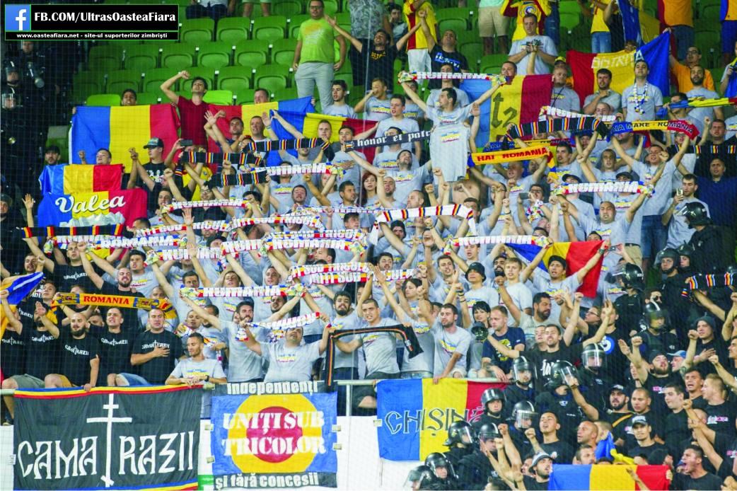 Aproximativ 1000 de romani au ocupat sectorul destinat fanilor oaspeti la meciul de la Budapesta. Din pacate, stelistii si dinamovistii s-au luat la bataie intre ei