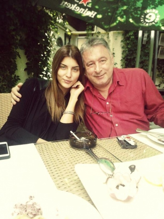 Madalin Voicu si fiica sa, Ioana