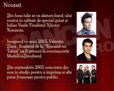 Valentin a inceput colaborarea cu Madalina Dinu Band anul acesta