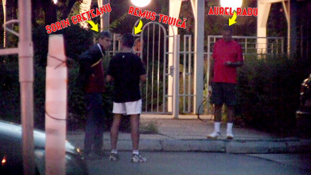2013. Truica, Aurel Radu si Creteanu, dupa ce s-au relaxat la o partida de tenis