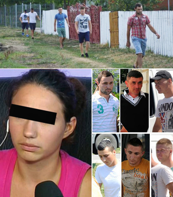 Raluca Munteanu si cei sapte tineri acuzati de viol