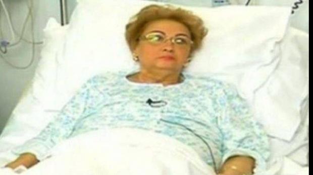 Marioara Zavoranu pe patul de spital