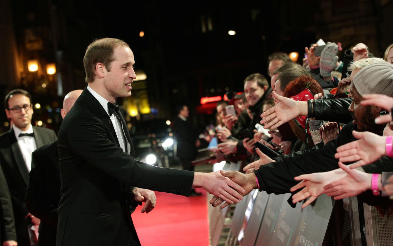 Printul William a participat o singura data la decernarea premiilor BAFTA de cand a fost numit presedinte al comisiei.