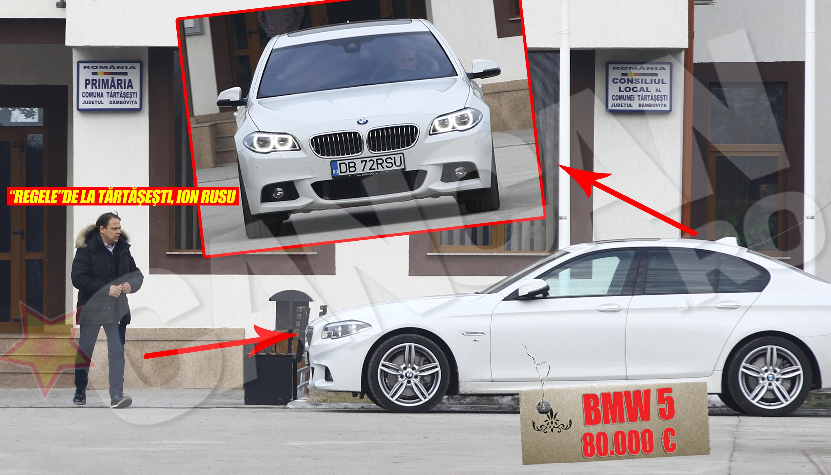 Primarul Rusu merge zilnic la biroul de la Primarie cu un BMW seria 5 care costa in jur de 80.000 de euro