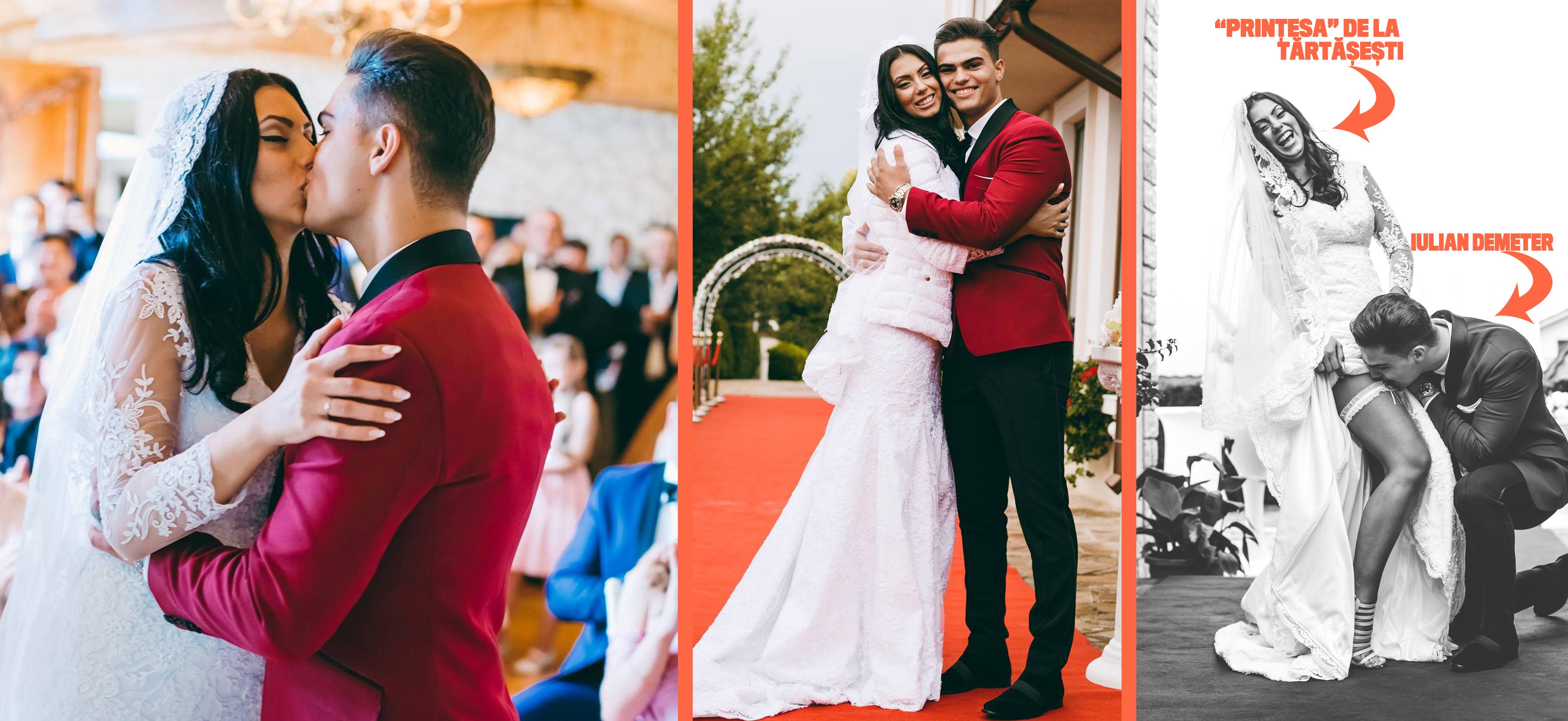 Nunta Anei Maria cu Iulian Demeter a fost desprinsa parca din basmele cu printese