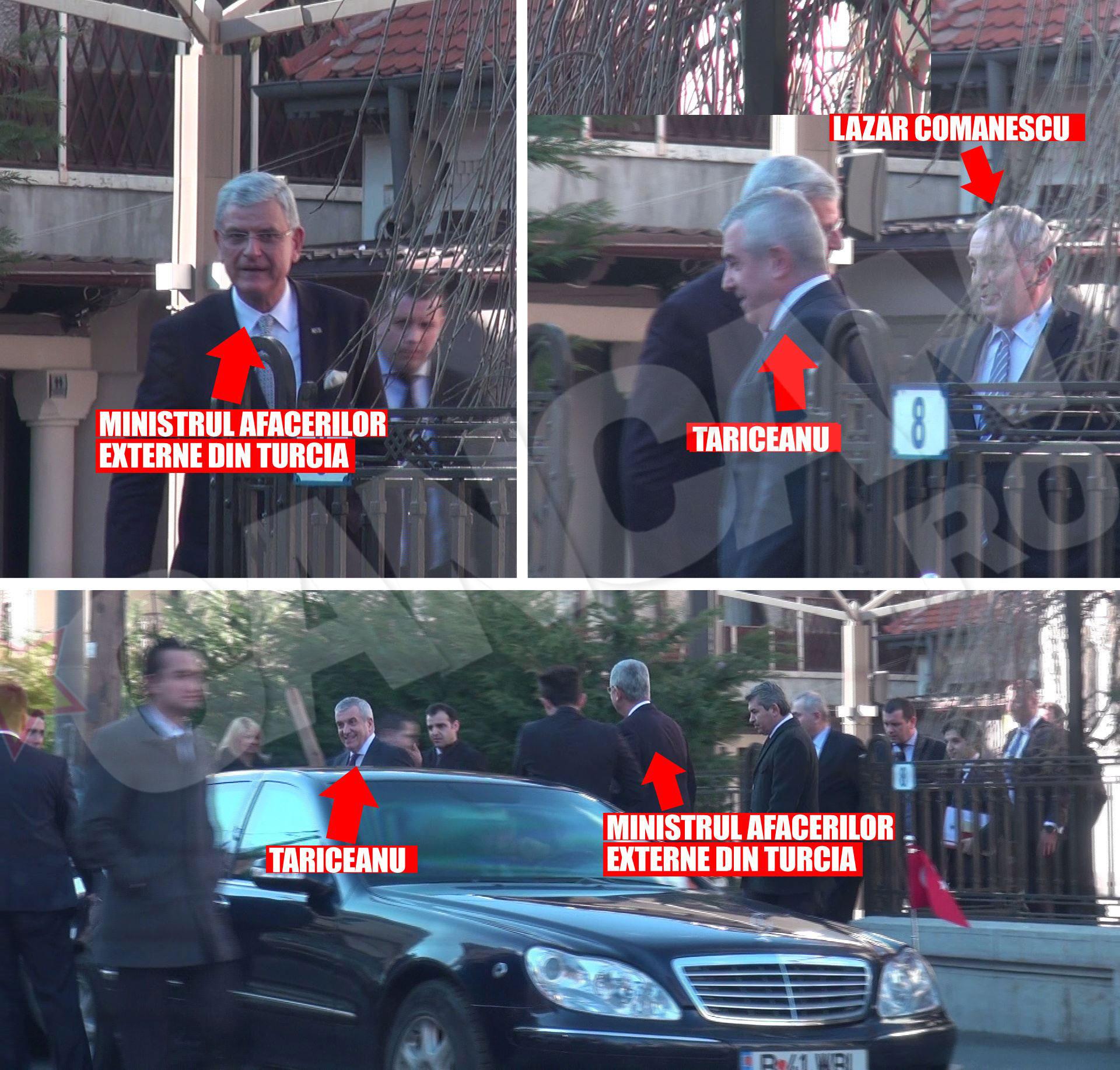 Calin Popescu Tariceanu a fost bine pazit la intalnirea de la restaurant