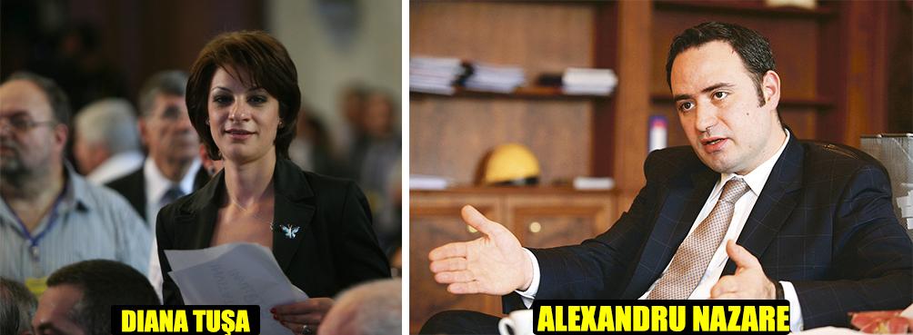 """Diana Tuşa şi Alexandru Nazare au împărţit PNL-ul în două tabere: prima dintre acestea a ales-o pe """"Spărgătoarea de case"""" să seducă electoratul din Sectorul 1, iar cealaltă se bazează că ex-ministrul de la Transporturi Alexandru Nazare va găsi drumul către """"moştenirea"""" lăsată de Chiliman"""