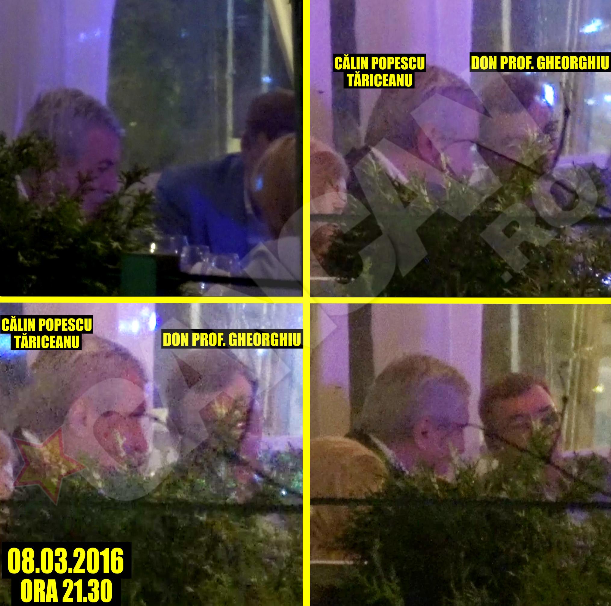 Şeful Senatului şi milionarul Gheorghiu au pus la punct planul, în linişte, fără soţii chiar dacă era Ziua Femeii