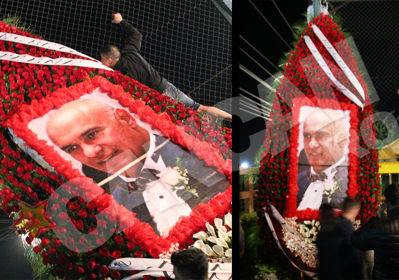 Dănuţ Udilă a venit cu o coroană de flori înaltă de... 5 metri