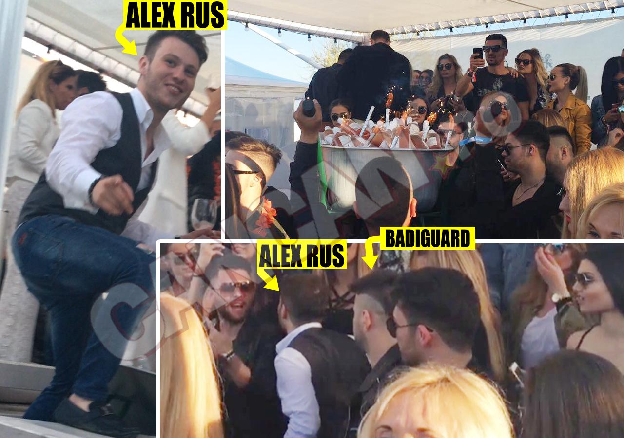 """SÂMBĂTĂ, 30 APRILIE 2016. Alex Rus a comandat o roabă plină ochi cu sticle de vin scump, devenind pe loc """"atracţia"""" LOFT-ului"""