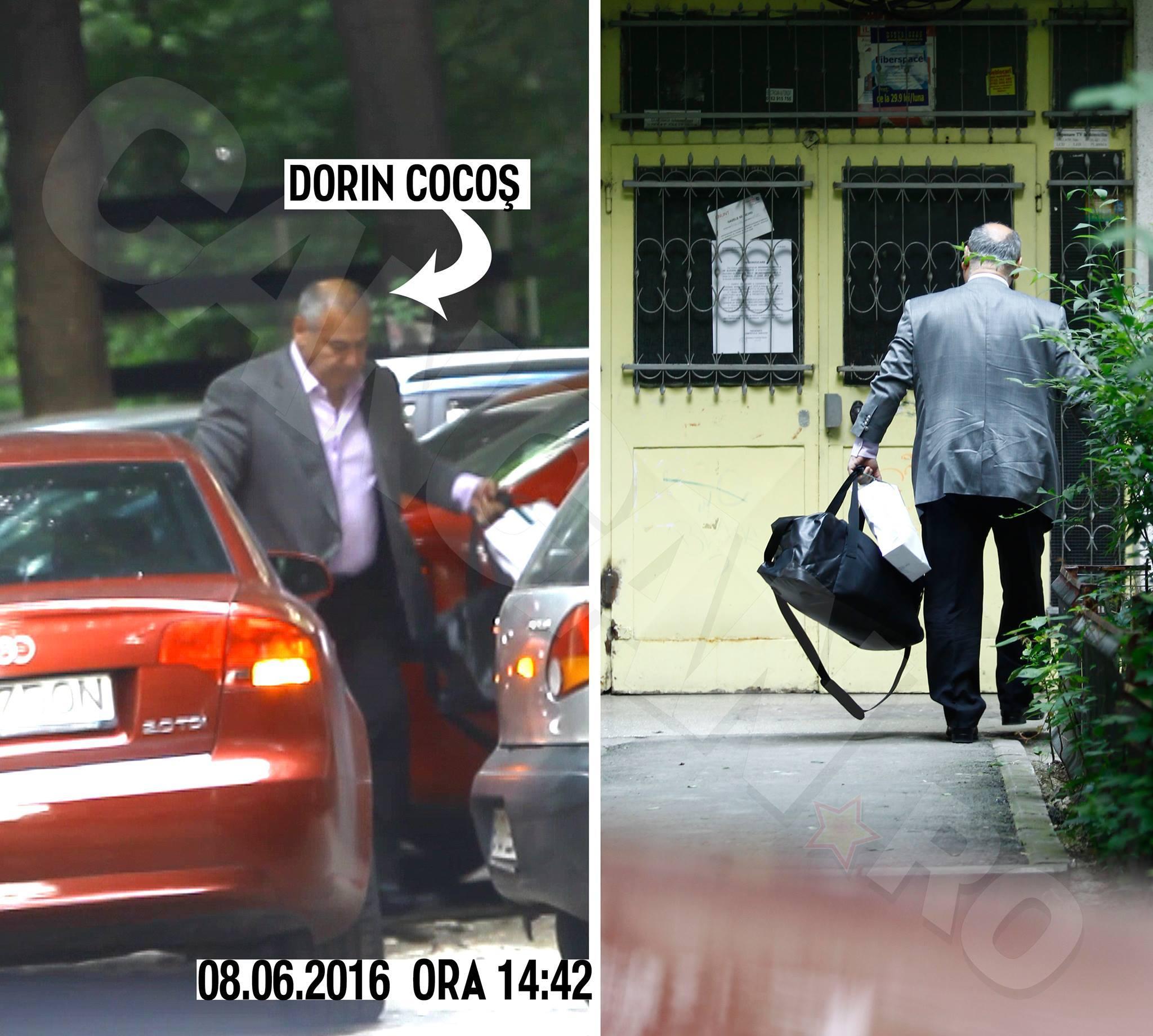 L-am fotografiat pe Dorin Cocoş în momentul în care părea să se mute acasă la Raluca Miu