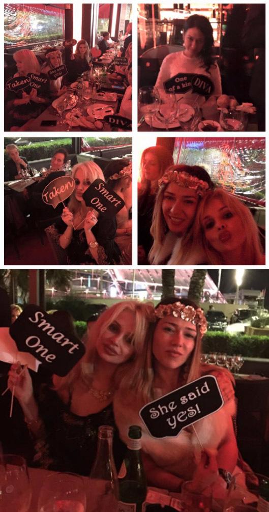 Nasa Luminiţa a organizat la Sass, restaurantul cu cele mai multe escorte din Monaco, petrecerea burlăciţelor. Cum o fi ales Naşa acel loc şi cum n-a zis nici o invitată nimic (mai ales că ştiau toate locul) sunt două întrebări fără răspuns!