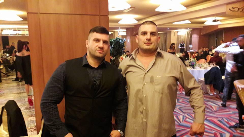 Radu Roşca (stânga), alături de Mircea Ursu