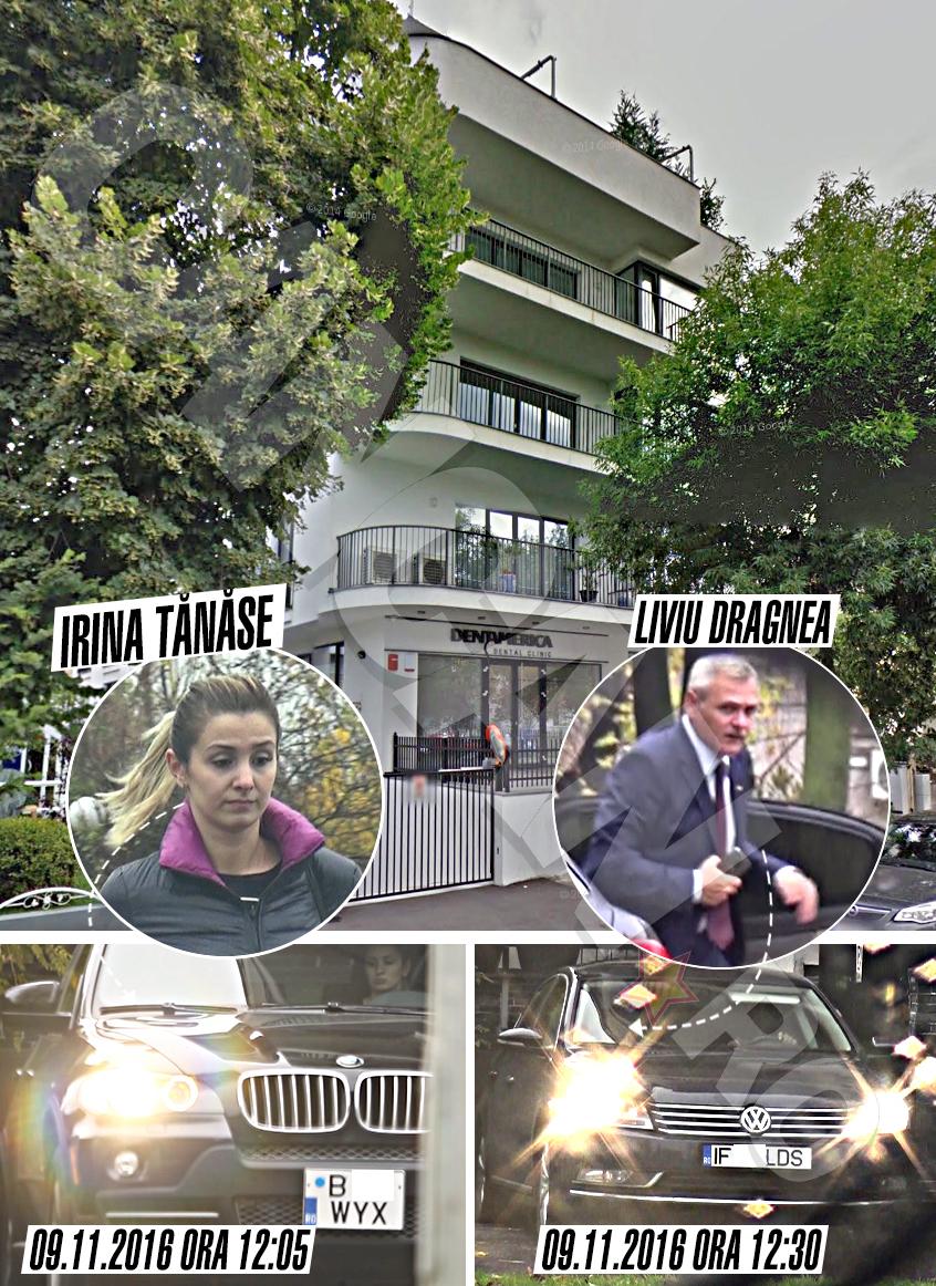 Miercuri la prânz, Irina şi Liviu Dragnea au părăsit separat, la un interval mic de timp,  imobilul în care îşi trăiesc povestea de dragoste