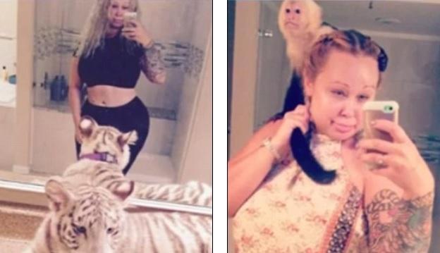 Trisha îşi ţinea fiica de 14 ani în casă cu animalele sălbatice.