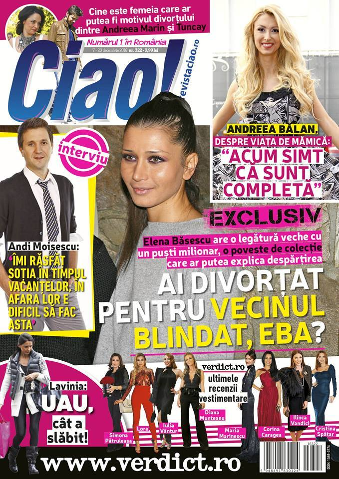 Copertă revista Ciao! nr. 322