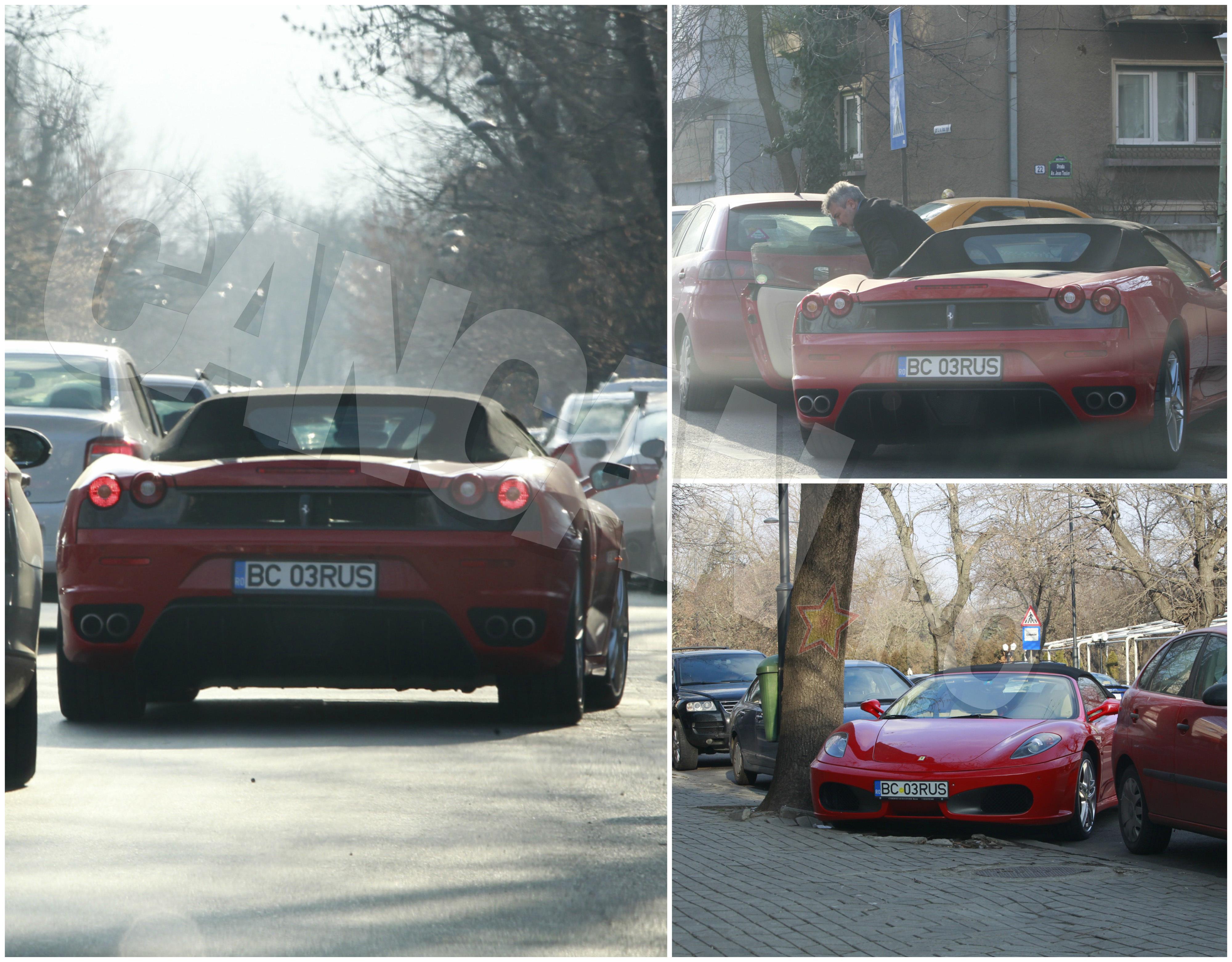 Imperiul financiar creat cu o serie de firme în domeniul construcţiilor i-au permis lui Costică Rusu să cumpere şi un al treilea Ferrari decapotabil!